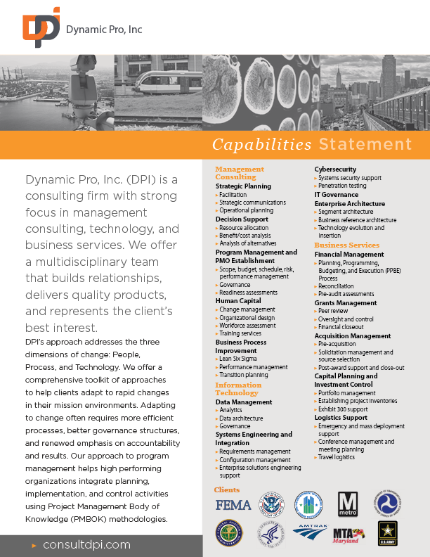 DPI Capabilities Statement
